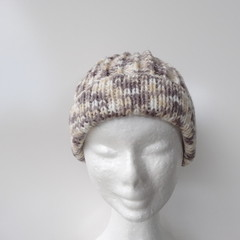Adult hand knitted  wool beanies hat
