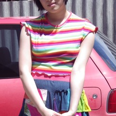Layercake Tee - S Size, LAST ONE, rainbow cotton jersey crop t-shirt