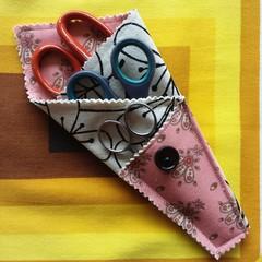 Handy Scissor Holder-Modern floral print