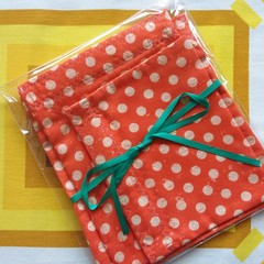 Handy Bags- Funky Dotty Print on orange