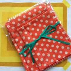 Handy Bags- Funky Dotty Print on orange