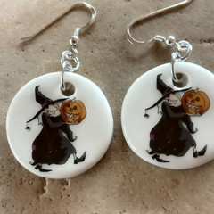 Porcelain Witch Earrings