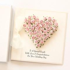 Personalised Wedding Card, Wedding Keepsake, Handmade Custom Made Wedding Card