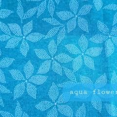 Protective Hygiene Face Mask - Aqua Flower