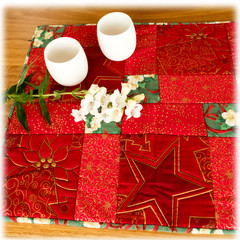 Mother's Day gifts. Table runner or mat: reversible.