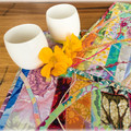 Mother's Day Sale: Set of 2 table mats,  bright, original design, reversible