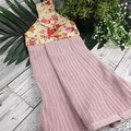 Button Fabric Hand Towel - Vintage Pink