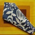 Handy Scissor Holder-Modern print, white flowers on blue