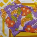 Handy Bags- Funky bright orange, purple, greenfloral print