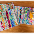 Reversible table mats. Set of 2. bright colourful