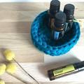 Crochet basket | essential oils | home decor | storage basket | TURQUOISE TEAL
