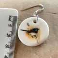 Blue Wren Porcelain Earrings