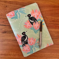 Note Pad Cover - Magpie