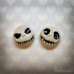 Jack Skellington earrings - Hand-sculpted kawaii Nightmare Before Christmas