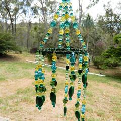Spiral Suncatcher Hanger in Greens