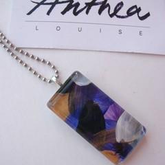 Violet - painted pendant