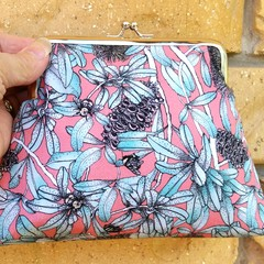Banksia & bees clutch bag