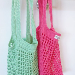 Mother's Day gift. Market bag, mesh, cotton, crochet, reusable,