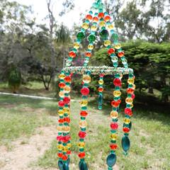 Spiral Suncatcher Hanger in Greens and Orange