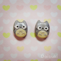 My neighbour Totoro earrings - Hand-sculpted kawaii