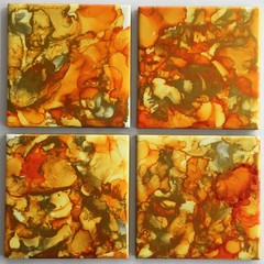 Original abstract design set of coasters