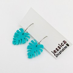 Aqua Monstera Hoops
