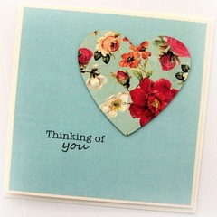 Thinking Of You card | Vintage Floral | Get Well Soon Sympathy Condolence Hello