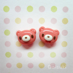 Gloomy Bear - Handmade Stud Earrings