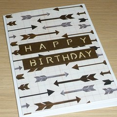 Male Happy Birthday card - arrows
