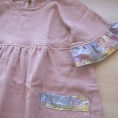 size4-5/Liberty Frill Sleeve Dress///Light Pink