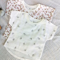 Baby Toddler Girl Boy Bunny Mouse White Top Floral Top