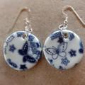 Porcelain Blue Butterfly Earrings
