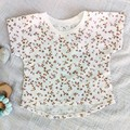 Baby Toddler Girls Boys Bunny Mouse White Top Floral Top
