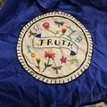 Ultramarine Blue tote bag with embroidery