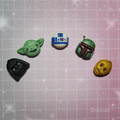 Tiny Star Wars set of 5 stud earrings - Handmade Star Wars tribute! Mix & Match