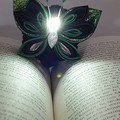 Kanzashi Butterfly Bookmarks with Light