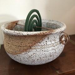 Mozzie Coil Burner - White Speckle Glaze