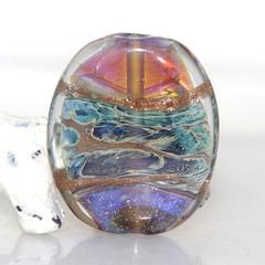 Ethereal Galaxy Shine Lampwork Glass Focal Bead