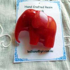 Ruby Red Elephant