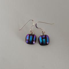 Dichroic Glass Striped Earrings