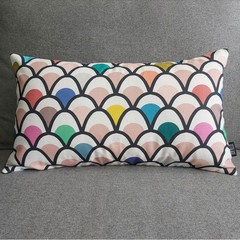 Cushion cover- rainbow mermaid print