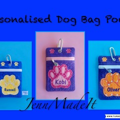 Personalised Doggy Bag Pouch