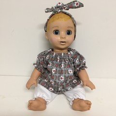 Dolls Bloomers and Top to fit Luvabella dolls