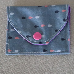 Just a Little Coin Purse - Grey