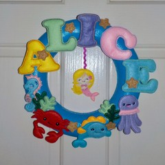 Personalised Under The Sea Wreath