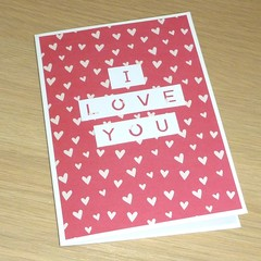 Valentine's Day card - I love you card