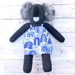 'Addie' the Sock Koala - *READY TO POST*