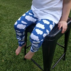 Australian Handmade Leggings (Blue Cloud)