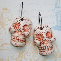 Fat Cat Originals Día de Muertos Earrings
