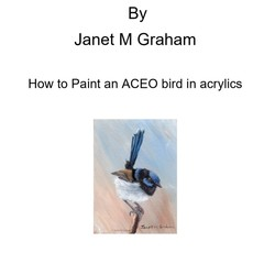 Art Acrylic Tutorial,  Painting a Bird ACEO, Minature Painting lesson